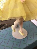 "VINTAGE 1950 MADAME ALEXANDER CISSETTE 9""DOLL TAGGED  YELLOW DOTTED SWISS  DRESS"