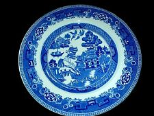 ALFRED MEAKIN Old Willow Blue/ White 9 3/4 inch Plate x1 c1930 ( 3 available)