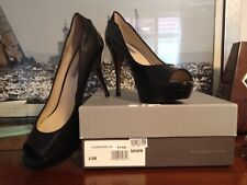 Classiques Entier Charlene Leather Open Toe Pumps, US 6.5 M, Black Leather  NEW!