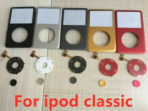 Front Faceplate Housing Case Cover + Clickwheel iPod Classic 6/7th 80/120/160GB