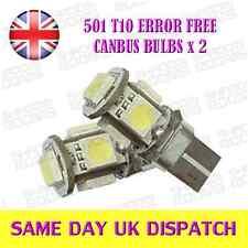 5 SMD T10 501 Error Free Canbus bulbs Xenon White x 2