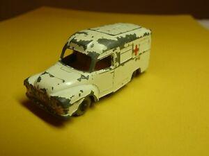 No. 14 – 1962 Lesney Matchbox – Lomas Ambulance – white  1-75 Regular Wheels