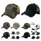 Baseball Cap Vintage US Army Mesh Hat / US Flag Camo Military Tactical  Hats