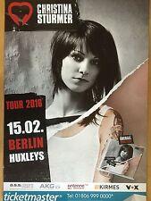 CHRISTINA STÜRMER - BERLIN 2016 -  orig.Concert Poster -- Konzert Plakat  A1 NEU