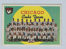1959 TOPPS # 304 CHICAGO CUBS TEAM NICE CARD