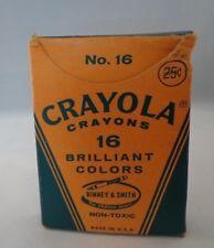 Vtg Crayola Crayons No.16 Binney & Smith Usa