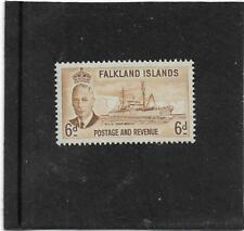 FALKLAND ISLANDS 1952 JOHN BISCOE RESEARCH SHIP 6d. SG.178 LIGHTLY MOUNTED MINT
