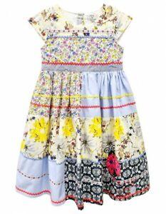 Girls Kids Beautiful Cotton flowers Ladybird Patchwork Girls Floral Summer Dress