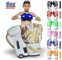 ONEX 4oz/6oz Kids Boxing Gloves Junior Mitts Punch Bag Children Gel Pad Gloves