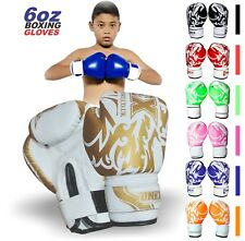 ONEX 6oz Kids Boxing Gloves Junior Mitts Punch Bag Children Gel Pad Gloves