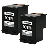 2PKs HP 901XL 901 XL Black Ink Cartridge For Officejet J4680 J4640 J4524