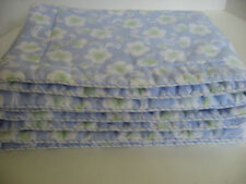 Pair of Blue Pillow Shams Padded Front Flange Edge Back Zipper  Non Standard