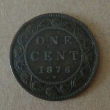 Canada coin 1876H Large Cent, Queen Victoria
