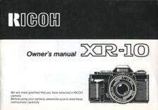 Ricoh XR-10 Instruction Manual Original