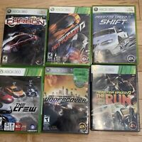 Racing (6)Games BUNDLE Lot Xbox 360: Need For Speed Carbon Pursuit Run The Crew