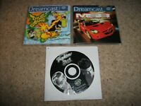 VF 3TB - MSR & JET SET RADIO - Sega Dreamcast (PAL/UK)  - DISCS & MANUALS ONLY