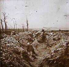 VUE STEREO - PLAQUE DE VERRE - GUERRE 14/18 - WW1 - STEREOSCOPIQUE - PHOTO - 3D