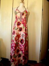 SALE esprit maxi dress  WORN ONCE  floral resort  cotton  halter neck