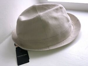 RARE GSTAR RAW Prichard Trilby Linen Hat Beige One Size NEW WITH TAGS