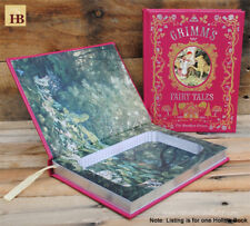 Hollow Book Safe - Grimm's Fairy Tales - Red Leather Bound Book Safe