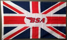 BSA MOTORCYCLE FLAG BANNER 3X5 ace cafe racer racing british biker ton up club