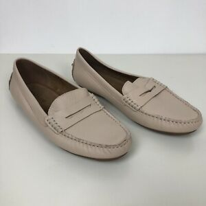 WALNUT MELBOURNE Cream Leather Sarah Loafers Size 41 NWOB