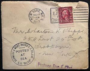 1933 *S. S. SILVIA* BERMUDA & WEST INDIES (FURNESS BERMUDA LINE) U.K./NY. COVER!