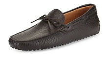100% AUTH NEW MEN TODS GOMMINO PEBBLED PENNY DRIVERS/MOCCASIN UK 10/US 11 D