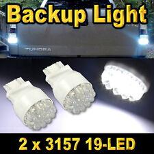 2x Bright White 3157 Led Back Up Reverse Light Bulbs 19-LED 3156 3057