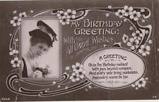 POSTCARD  ACTRESSES   Pauline  Chase Birthday