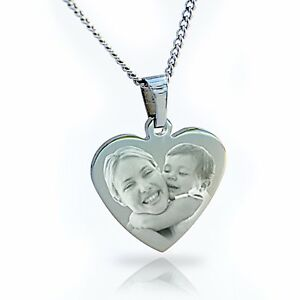 Photo Pendant Necklace personalised with image & text, Mother's day gift ❤