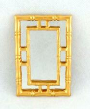 Dolls House Contemporary Gold Framed Wall Mirror Miniature Accessory