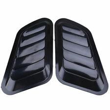 2X Decorative Air Flow Intake Scoop Turbo Bonnet Vent Cover Hood Automobile