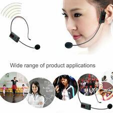 1pc FM Wireless Microphone Headset Microphone car Radio Mic for Loudspeaker UK