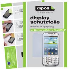 2x Samsung Galaxy Chat B5330 Schutzfolie matt Displayschutz Folie Antireflex