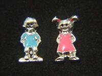 Floating Charms Mini Charm Living Memory Lockets Boy Blue Girl Pink Children 9mm