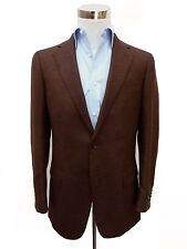 Zegna Sport Coat: 38R Brown & charcoal weave, pure cashmere