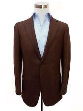 ZEGNA SPORT Cappotto: 38R Brown & Carbone tessitura, pure Cashmere