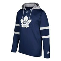 Toronto Maple Leafs NHL Adidas Men's Dark Blue Team Crest Silver Jersey Hoodie