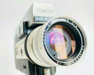 Canon 518 Auto Zoom rare (filmosound) version super8 camera Working/ Film Tested