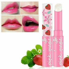 Cute Strawberry Lip Balm Temperature Changing Moisturizer Balm H3Z7