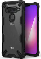For LG V40 ThinQ | Ringke [FUSION-X] Clear Back Shockproof TPU Bumper Cover Case