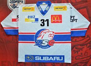 Sulander № 31 GCK Lions TFS JERSEY REEBOK SWISS HOCKEY SIZE XL Sport