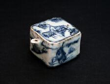 ANTIQUE KOREAN BLUE & WHITE PORCELAIN WATER DROPPER