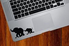 Elephants vinyl sticker for laptops and tablets. Black decal. Made in Australia
