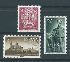 ESPAÑA 1953 EDIFIL 1126/1128** VII Cº UNIVERSIDAD DE SALAMANCA