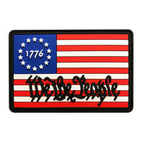We the People Betsy Ross 1776 Flag US Constitution Patch (PVC Rubber-MBP11)