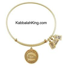 Wind & Fire Taxi Mom Charm Gold Expandable Bangle Bracelet Made In USA