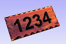 Custom Carved Wood House Number Sign -Red Aromatic Cedar Rustic  Plaque