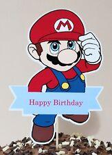 SUPER MARIO Cake Topper Party Centerpiece Decoration - Happy Birthday 16cm